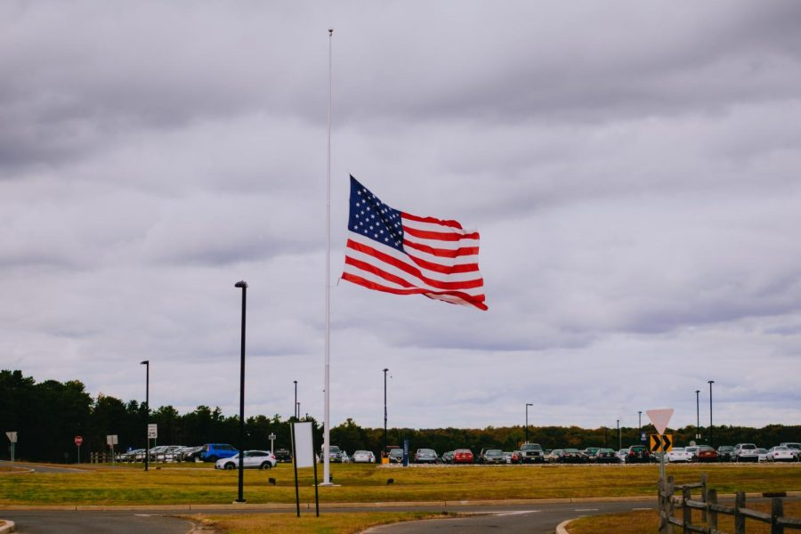 OCC flag at half-staff.